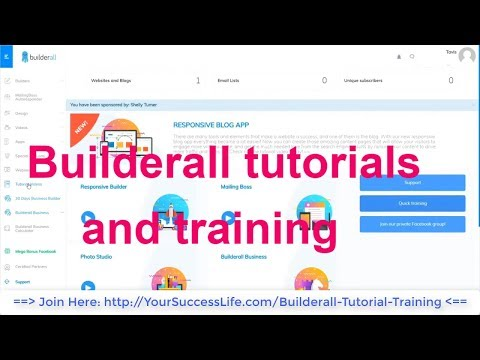 Builderall tutorials and training - All in One Online Business and Digital Marketing Platform
