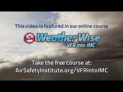 VFR into IMC: A Real-life Close Call