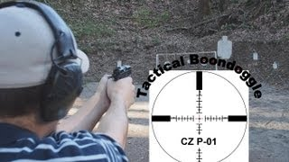 CZ 75 P-01 9mm shooting and tabletop review