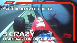 5 Crazy Onboard Moments | Michael Schumacher