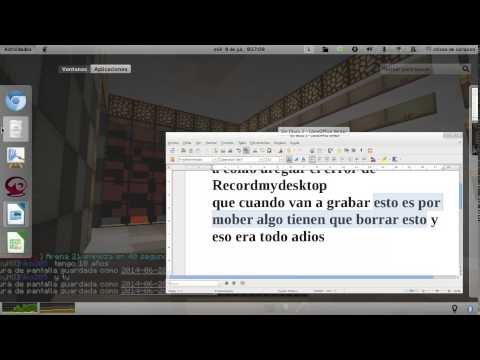 como arreglar el error de recordmydesktop