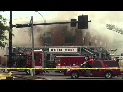 Fire on Main Street in Grandview. MO - 10.5.15