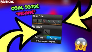 TRADING FOR A COAL COMMON KNIFE! *EXTREMELY RARE COMMON KNIFE* (ROBLOX ASSASSIN BEST CRAZY TRADES)