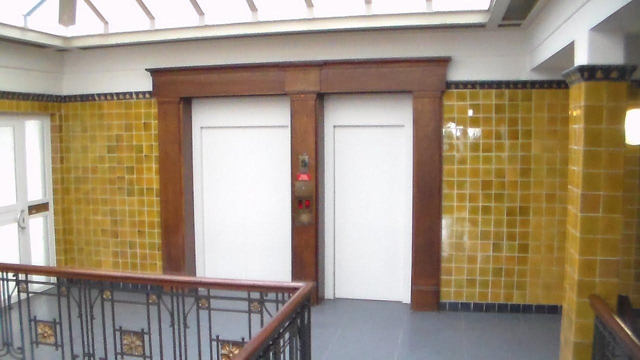 1987 Koch elevators with rare single-speed doors - Altes Klöpperhaus Hamburg Germany & 1987 Koch elevators with rare single-speed doors - Altes Klöpperhaus ...