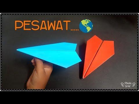 cara membuat origami pesawat sederhana