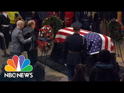 Watch Bob Dole Salute George H.W. Bush's Casket In Powerful Moment At Capitol | NBC News