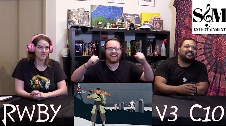 rwby vol 3 ch 10 battle of beacon reaction