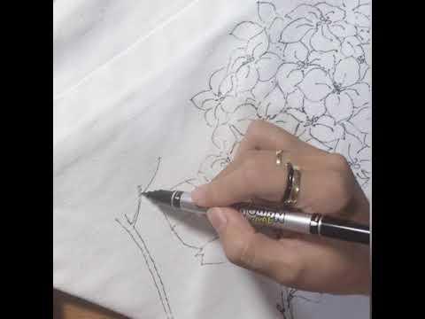 Tsketch tote bag drawing - Hydrangea