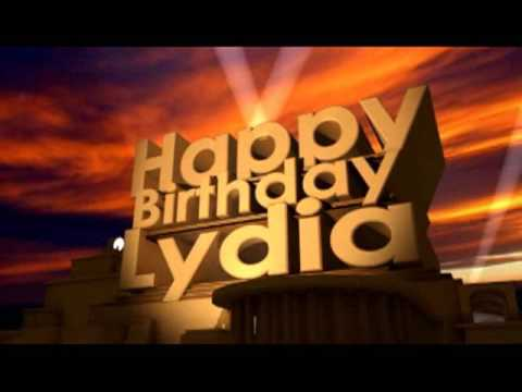 happy birthday lydia Happy Birthday Lydia   YouTube happy birthday lydia