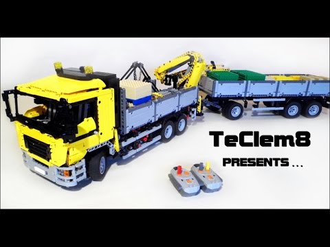 lego technic man transport truck with crane on the back. Black Bedroom Furniture Sets. Home Design Ideas