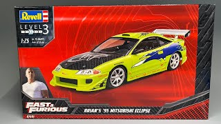 Unboxing: Revell Brian's Mitsubishi Eclipse from The Fast and The Furious