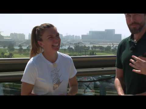 Cute interview with Simona Halep in Dubai (Feb 16)
