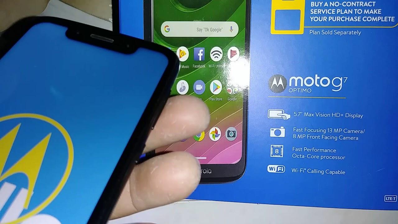 Moto g7 OPTIMO Reseteo de Fabrica desde ajustes del telefono o menu del  telefono Motorola XT1952DL