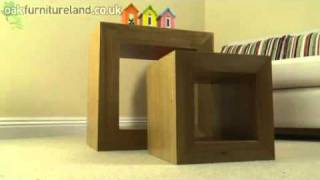 Dakar Solid Oak Set Of 2 Cube Tables From Oak Furniture Land
