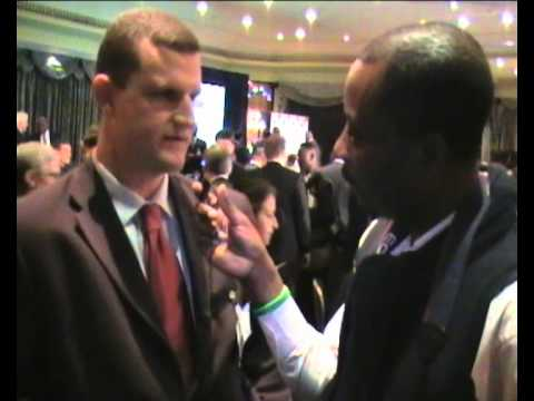 Dj Ali talks to the Governor of the Central Bank of Nigeria @ a Conference in London