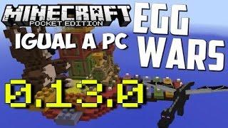 Server de EGGWARS (bed wars) igual a pc para Minecraft PE 0.13.0/0.14.0