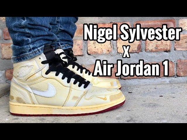 "Air Jordan 1 ""Nigel Sylvester"" on feet"