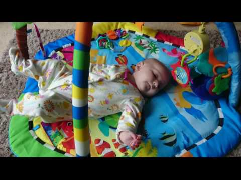 Lydia learning to roll over ☺ 11 weeks 6 days