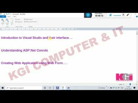 INTRODUCTION TO VISUAL STUDIO, Understanding ASP.NET Controls