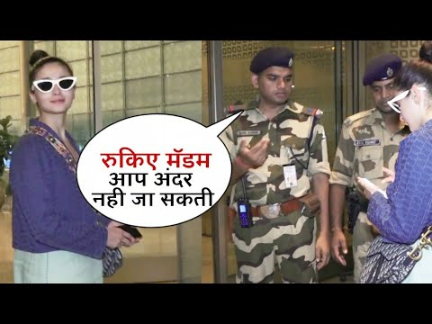 Alia Bhatt's MOST EMBARRASSING Moment as Airport Security stopped her from Entry   Ranbir Kapoor
