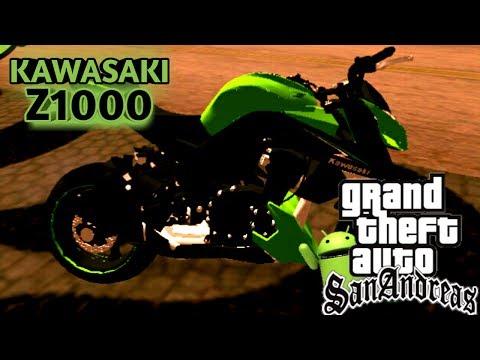 🔑Mods Gta San Android-Mod Kawasaki Z1000 Do Grauu!!!![SEM BRAÇOS]🔑