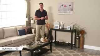Shelby Glass Top Console Table With Quatrefoil Underlay - Product Review Video