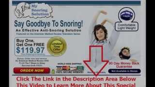 how to stop snoring tips | Say Goodbye To Snoring