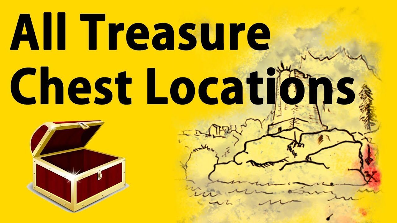 Skyrim All Treasure Map Chest Locations - YouTube