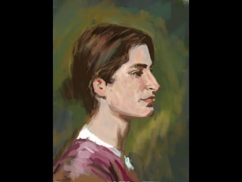 Digital painting hangout (CZ) - Gurney´s portrait study