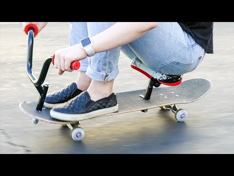 SKATEBOARD WITH SEAT AND HANDLEBARS?!