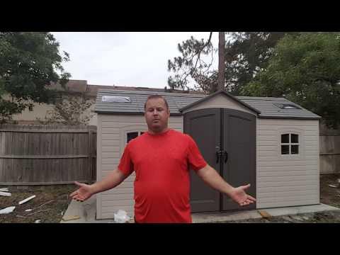 Lifetime Shed Build Day 6 (Model 60079 )