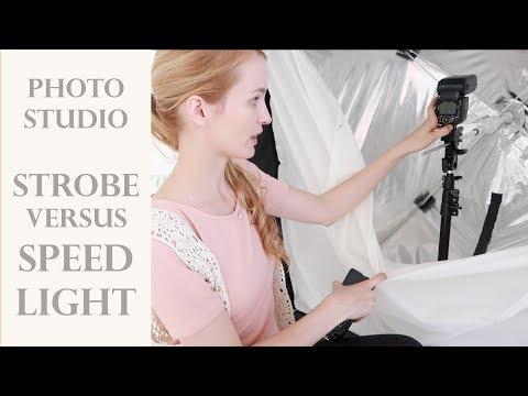 Speedlight Versus Strobe. Showing My Photoshoot Setup, Studio, Settings And Photos