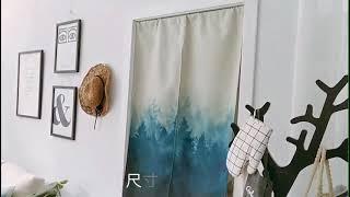 하프 북유럽 패브릭 가림막 커튼 방문 중문 가리개