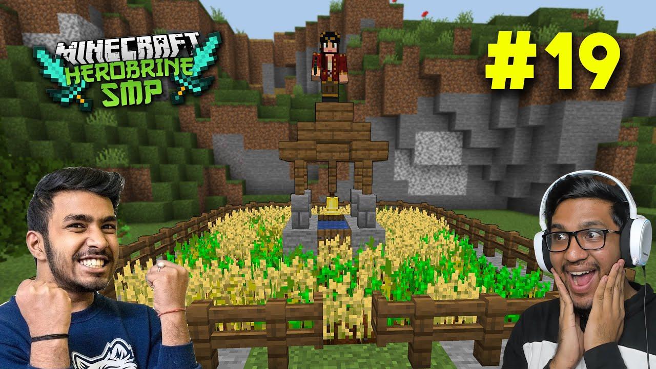 I MADE WHEAT FARM IN HEROBRINE SMP | MINECRAFT GAMEPLAY #19