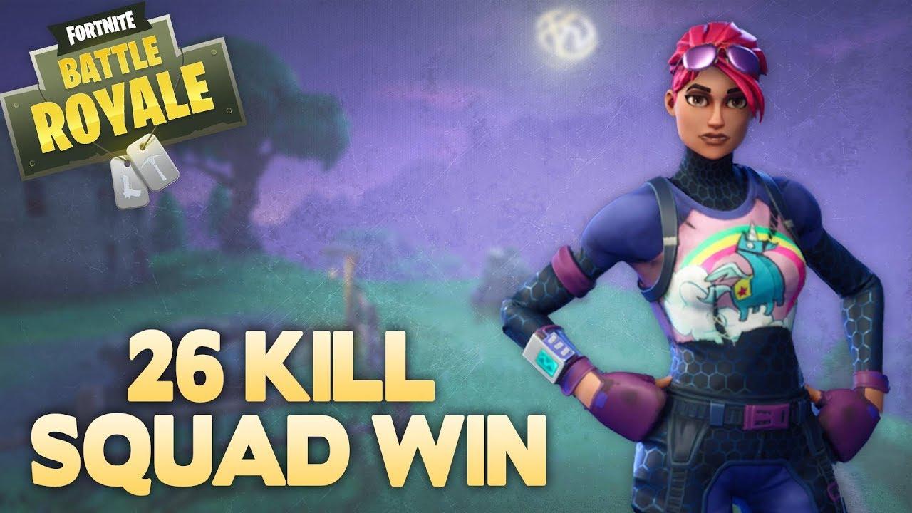 Insane 26 Kill Squad Win Fortnite Battle Royale Xclusivetv Youtube