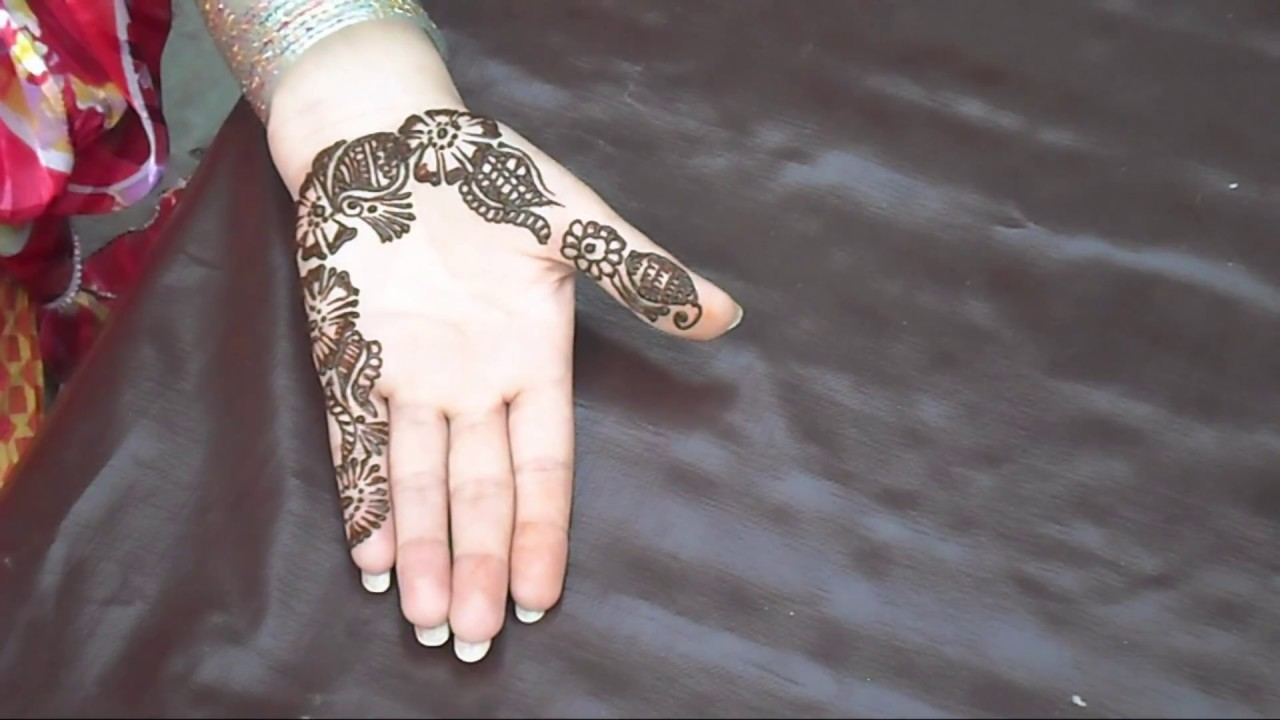 Traditional Mehndi for Cute Girls Hands - YouTube