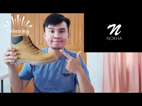 Vlog 7#UNBOXING BOOTS LOCAL BRAND(NOKHA)