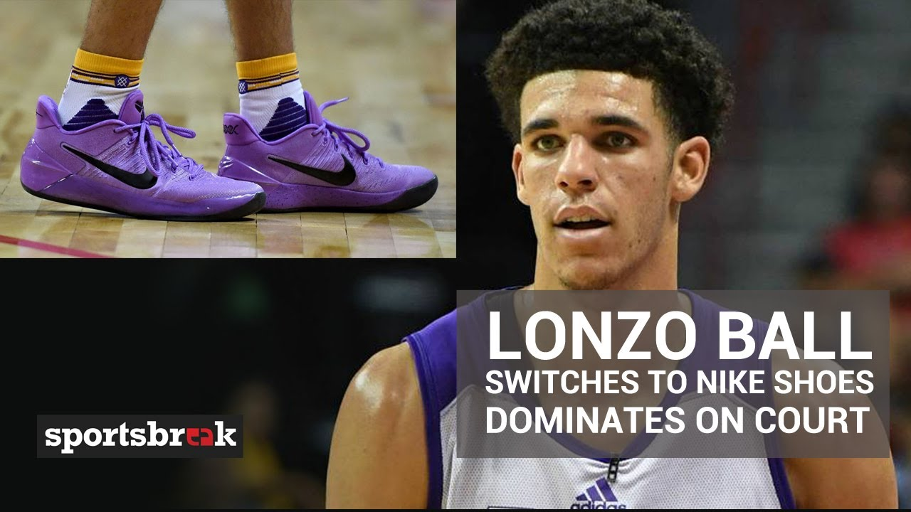 cheap for discount 4a292 a0a0b Lonzo Ball Dominates On Court Wearing Nike Kobe AD's Instead Of Big Baller  Brand
