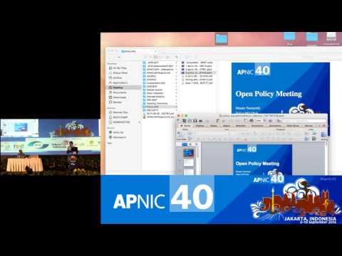 APNIC 40 - Policy SIG 1