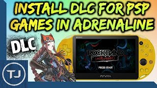 PS Vita Install DLC For PSP Games On Adrenaline!