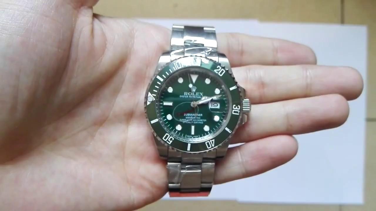 5fad4e8c8c5 Relógios Cassalho Rolex submariner fundo verde automático - YouTube