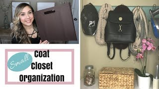 SMALL COAT CLOSET ORGANIZATION | WINTER EDITION |