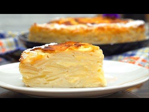 Мало теста, много начинки! Невидимый яблочный пирог | Кулинарим с Таней