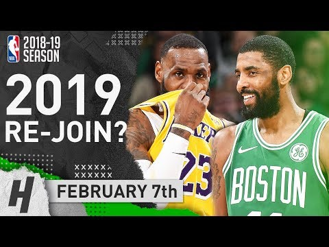 LeBron James vs Kyrie Irving BROTHERS Duel Highlights Lakers vs Celtics 2019.02.07 - 28 Pts for LBJ!