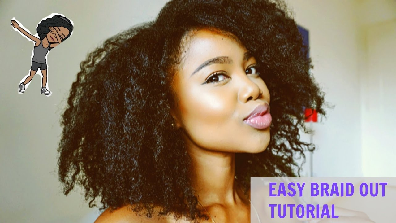 Super Easy: Braid Out Tutorial on 4C Natural Hair - YouTube