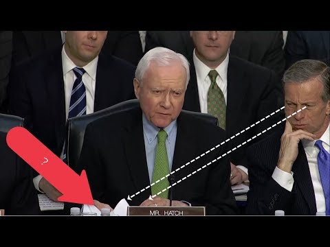Orrin Hatch keeps reading endless pages of 4-word sentences while asking Mark Zuckerberg