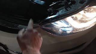 Hyundai elantra MD2013. Установка ксеноновых ламп, монтаж блоков. Какие ошибки, и устранение