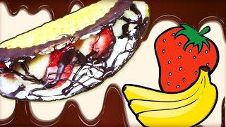 Diy Quick And Easy Recipe | Chocolate Strawberry & Banana Taco Recipe | Fun Food For Kids