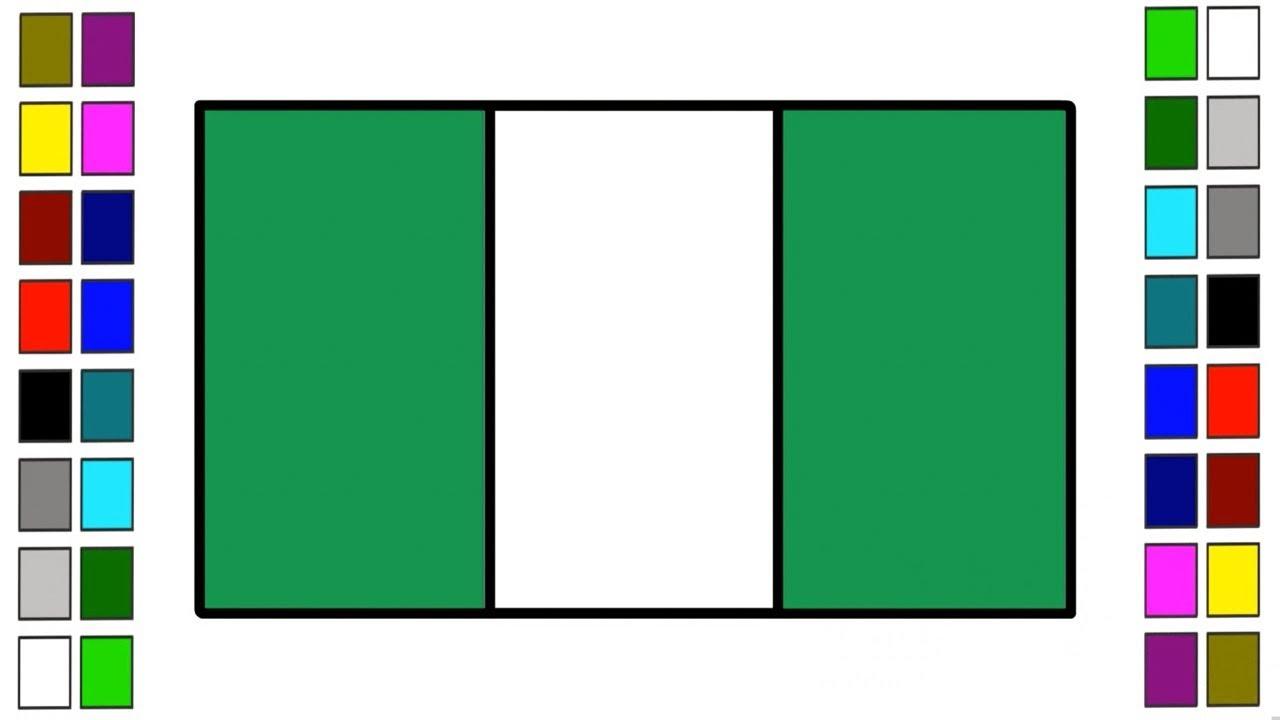 How To Draw Nigeria Flag