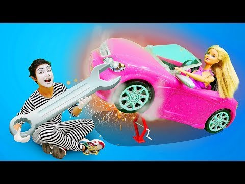 Barbie and Car Service: Try Not to Laugh & Funny Video